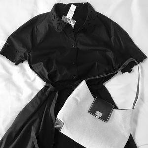 Talbots black dress NWT 12